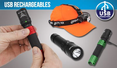 USB Rechargeable Flashlights